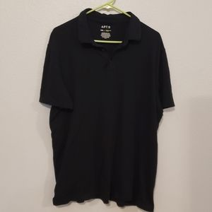 APT 9 Black collared shirt